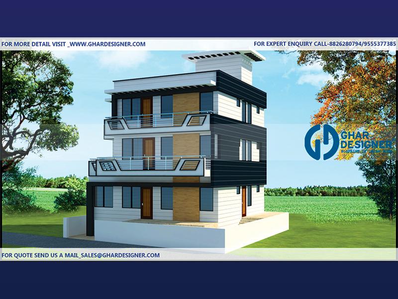 Triplex House Plans Ghar Designer